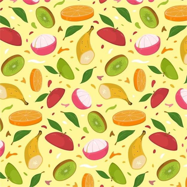 Красочный фруктовый образец Бесплатные векторы