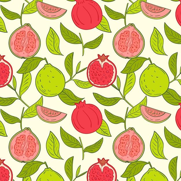 Modello di frutti colorati Vettore gratuito