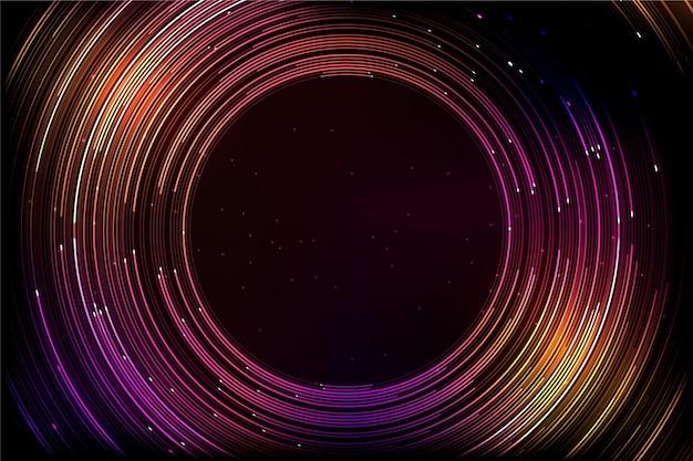 Красочный футуристический фон с круглыми линиями Бесплатные векторы