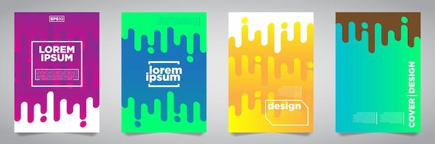 Premium Vector Colorful Futuristic Minimalist Covers Design