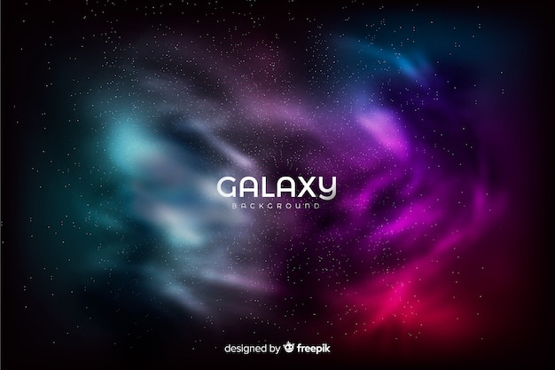 Colorful galaxy background Free Vector