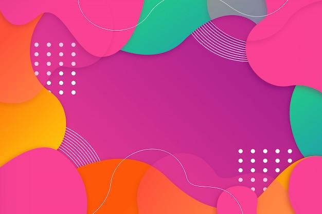 다채로운 기하학적 추상 배경 무료 벡터