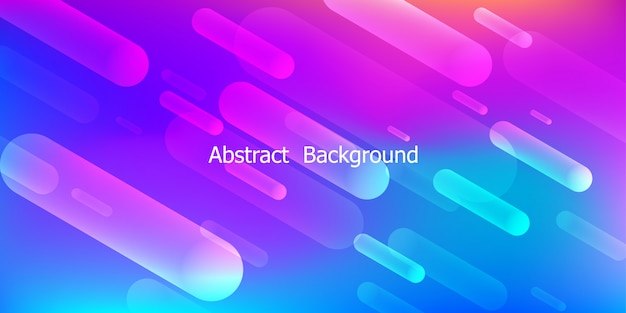 Colorful geometric background.dynamic shapes composition Premium Vector