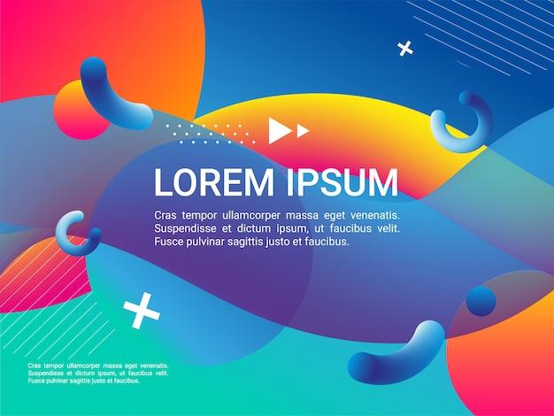 Colorful geometric background. fluid shapes composition. dynamic shapes composition. Premium Vector