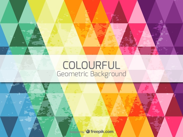 Colorful geometric background Free Vector