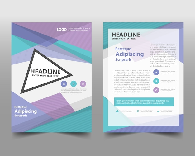 Book Cover Design Freepik : Colorful geometric corporate book cover concept vector
