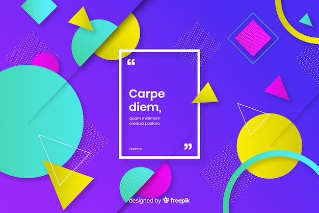 Colorful geometric elements collection background Free Vector