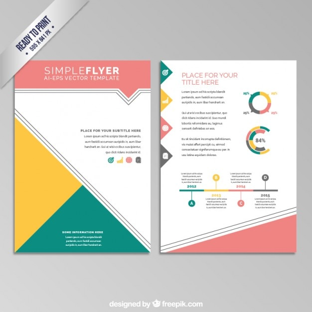 Colorful Geometric Flyer Vector  Premium Download