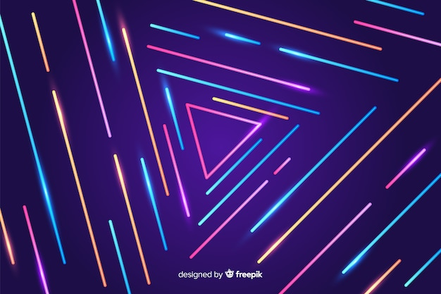 Colorful geometric lines abstract background Free Vector