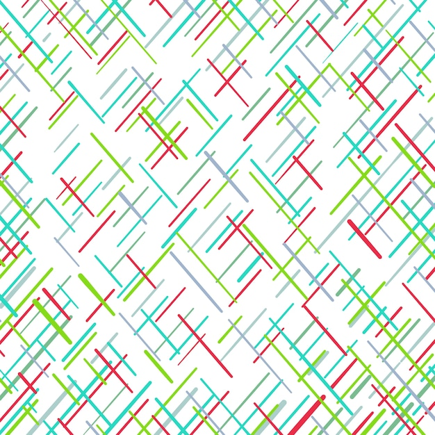 Colorful geometric lines pattern Free Vector