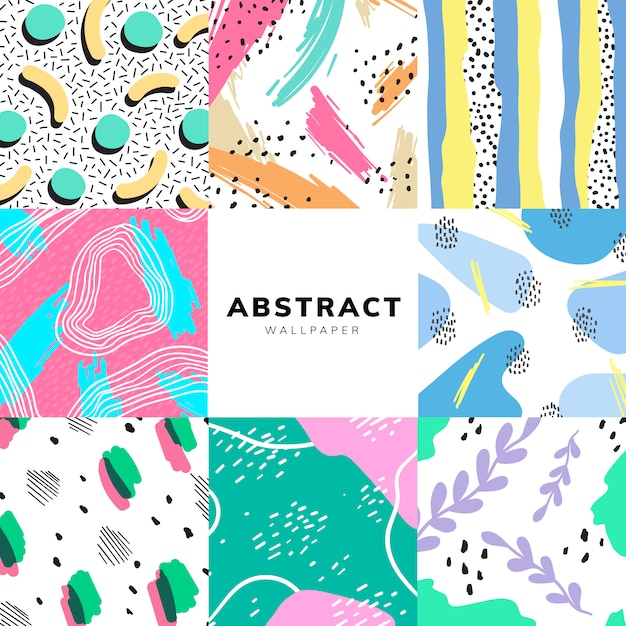 Colorful geometric memphis style background Free Vector