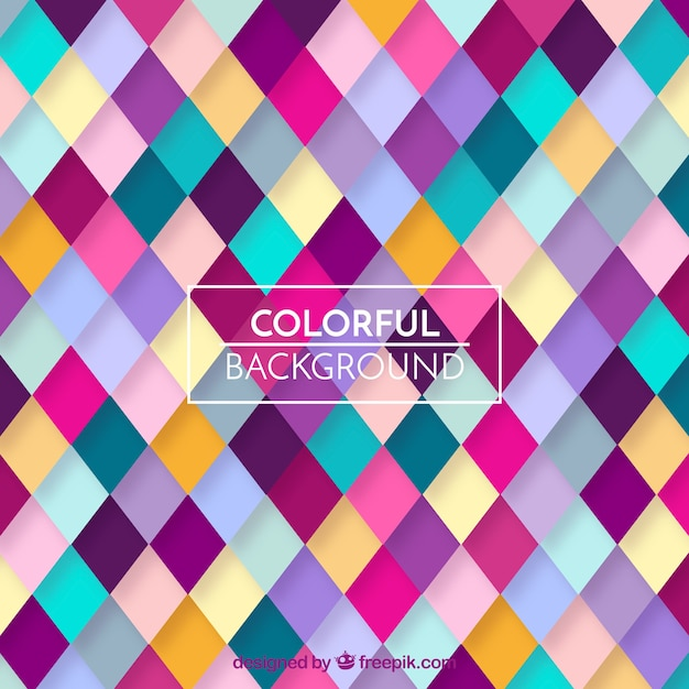 Colorful geometric pattern background Free Vector
