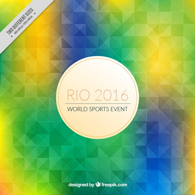Colorful geometric rio 2016 background