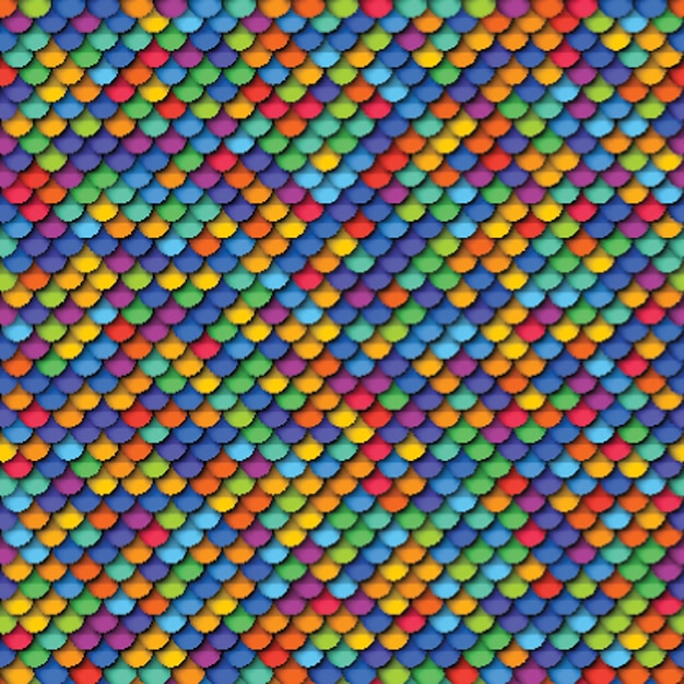 Colorful geometric seamless pattern with realistic paper cut round elements Premium Vector