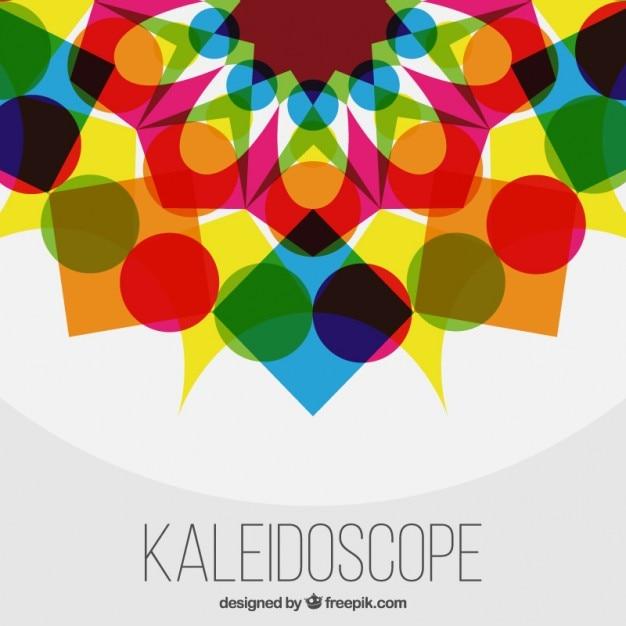 Colorato forme geometriche sfondo con effetto caleidoscopio Vettore gratuito