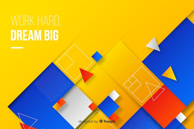 Colorful geometric shapes background Free Vector