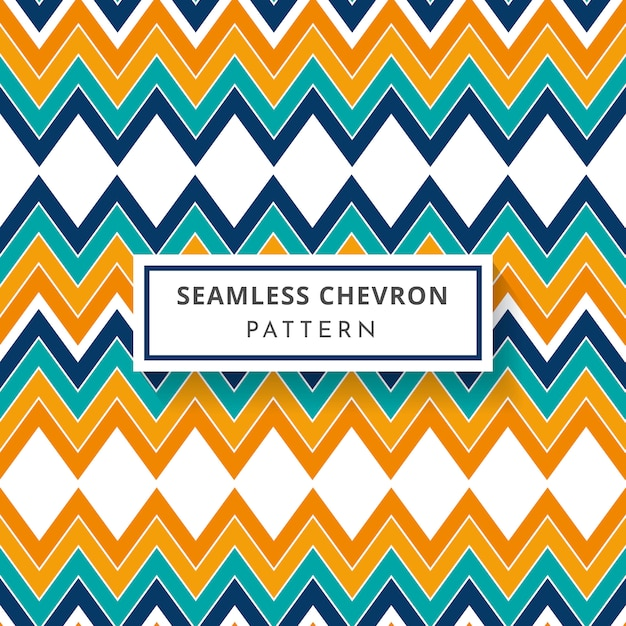 Colorful geometric zigzag pattern in blue and orange color Premium Vector