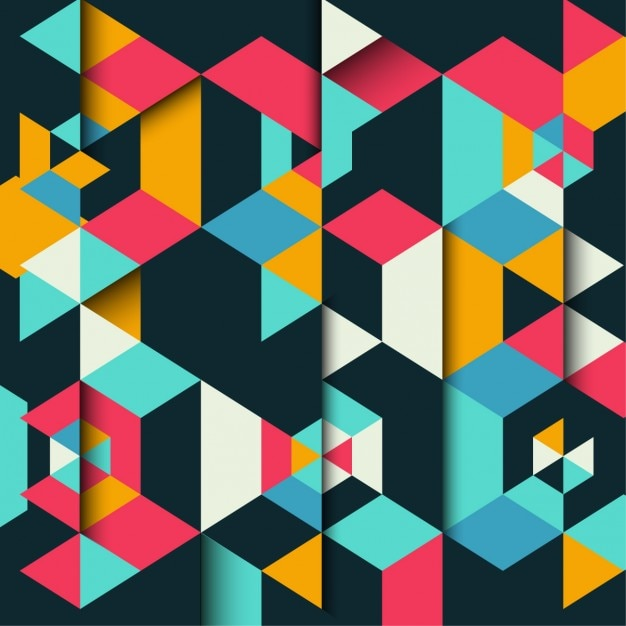 Colorful and geometrical background Free Vector