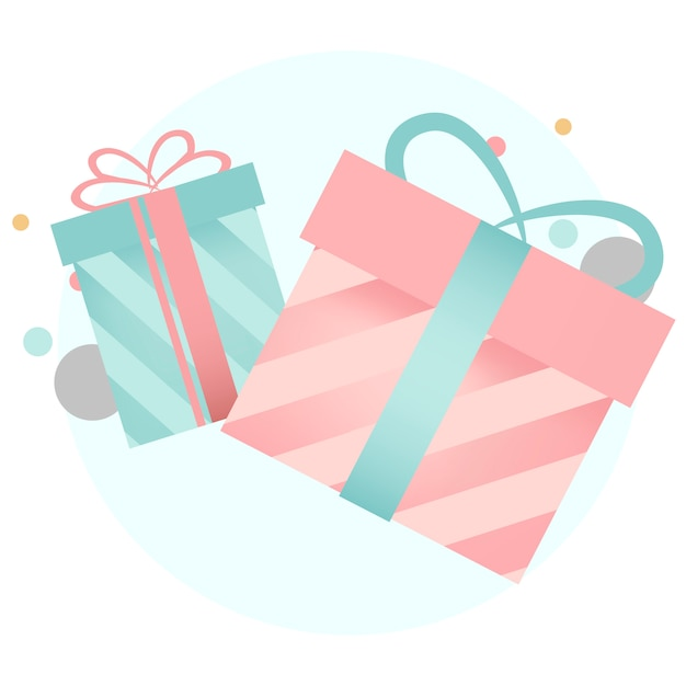Colorful gift box design vectors Free Vector