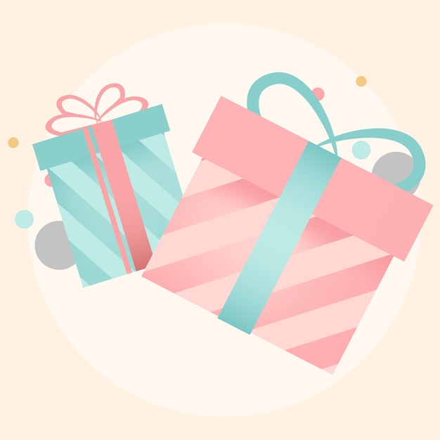 Colorful gift box design vectors Free Vector
