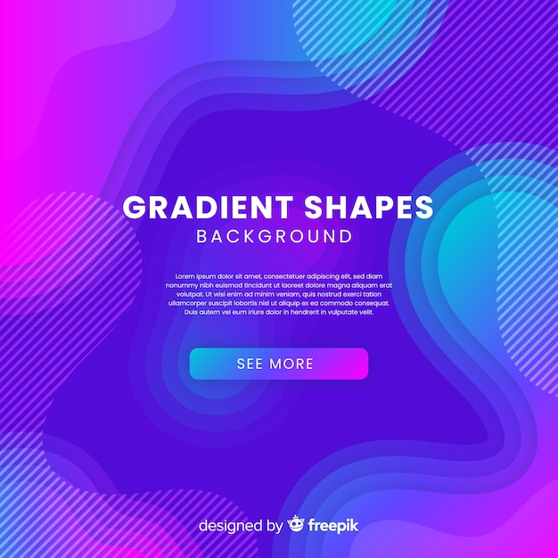 Colorful gradient background Free Vector