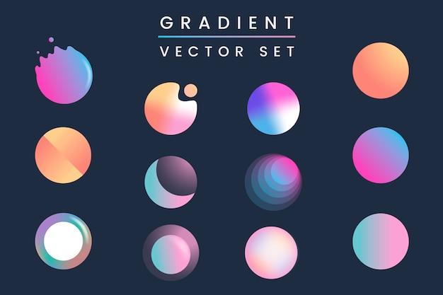 Colorful gradient badge set Free Vector