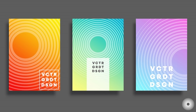 Colorful gradient cover for flyer Premium Vector
