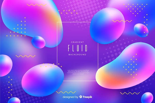 Colorful gradient fluid background Free Vector