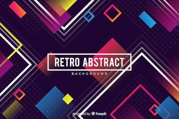 Colorful gradient geometric shapes background in flat design Free Vector