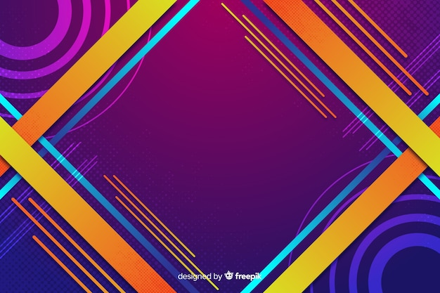 Colorful gradient geometric shapes background Free Vector