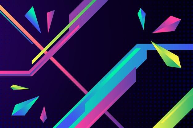 カラフルなグラデーションの幾何学的図形の背景 無料ベクター