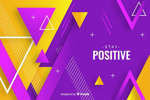 Colorful gradient geometric shapes wallpaper Free Vector
