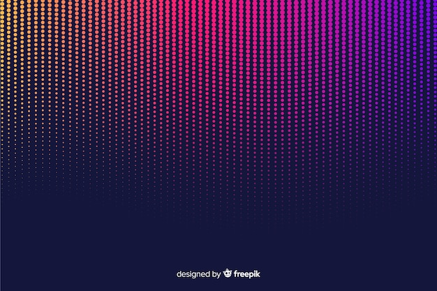 Colorful gradient halftone effect background Free Vector