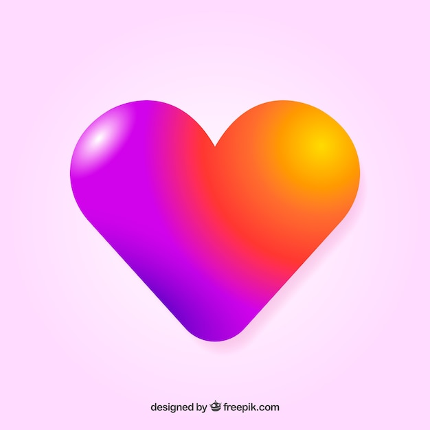 Colorful gradient heart background