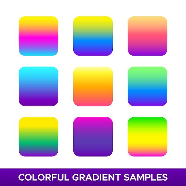 Colorful gradient samples