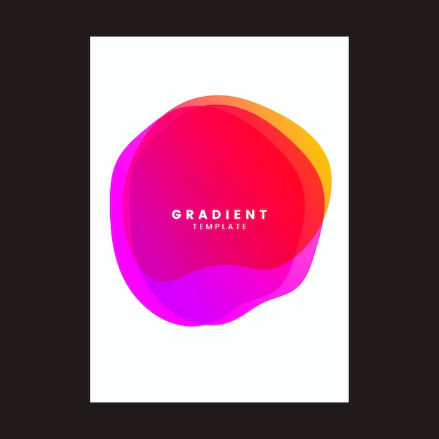 Colorful gradient template poster design Free Vector