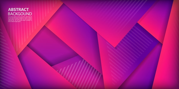 Colorful gradient triangles shapes background Premium Vector