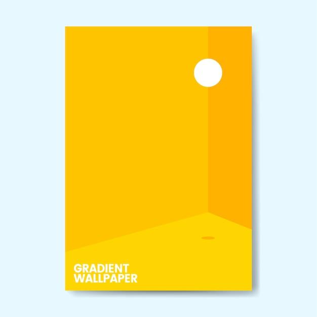 Colorful gradient wallpaper template design Free Vector