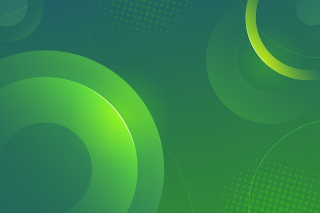 Colorful green abstract background Premium Vector
