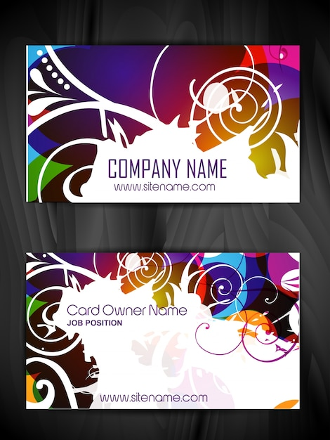 Colorful grunge style business card