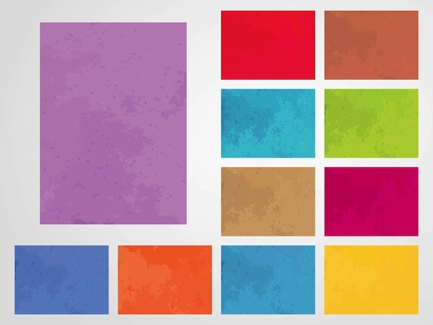 Colorful grunge textures background template