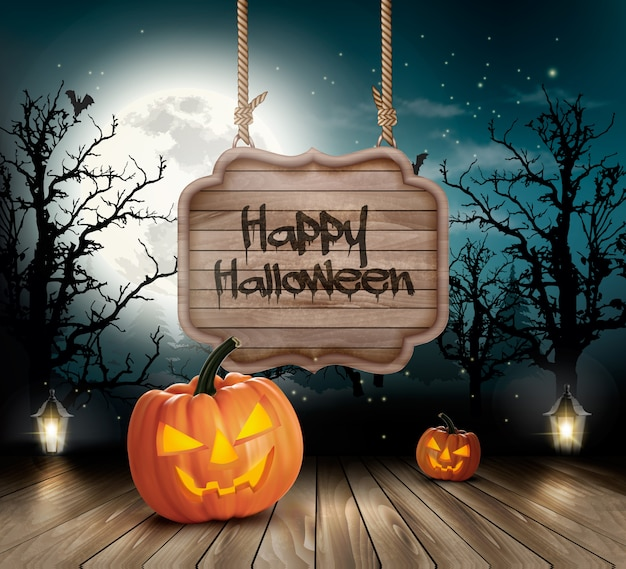 Colorful halloween background Premium Vector