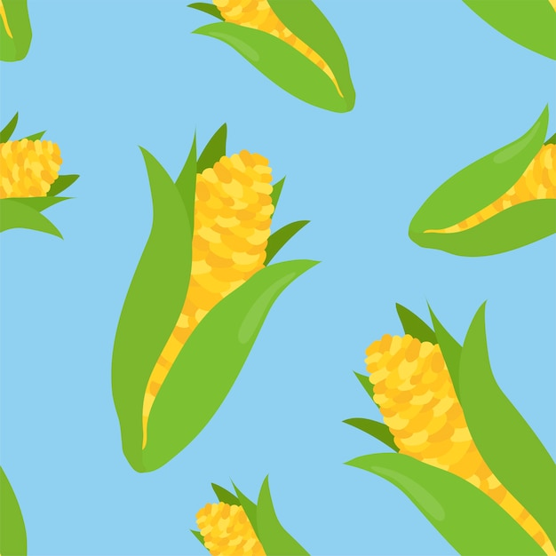 Colorful hand drawn corn pattern Free Vector