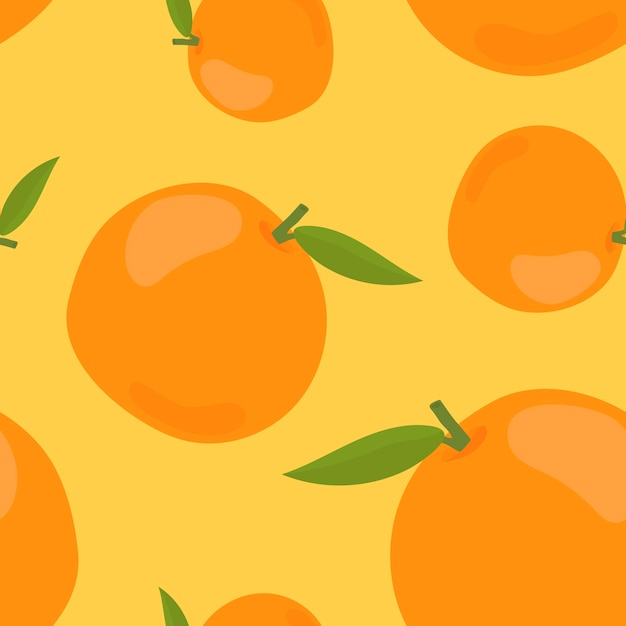 Colorful hand drawn orange pattern Free Vector