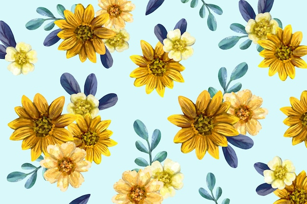 Colorful hand painted floral background Free Vector