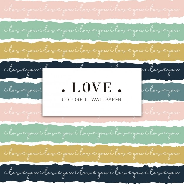Colorful hand painted love pattern