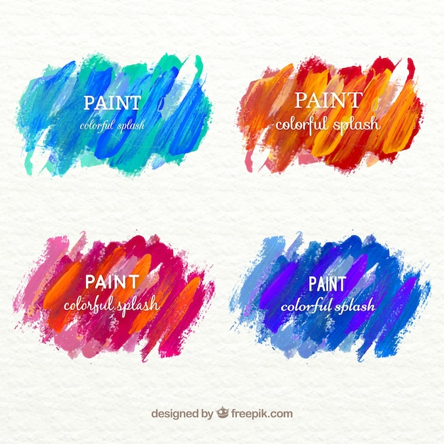 Colorful hand painted stains