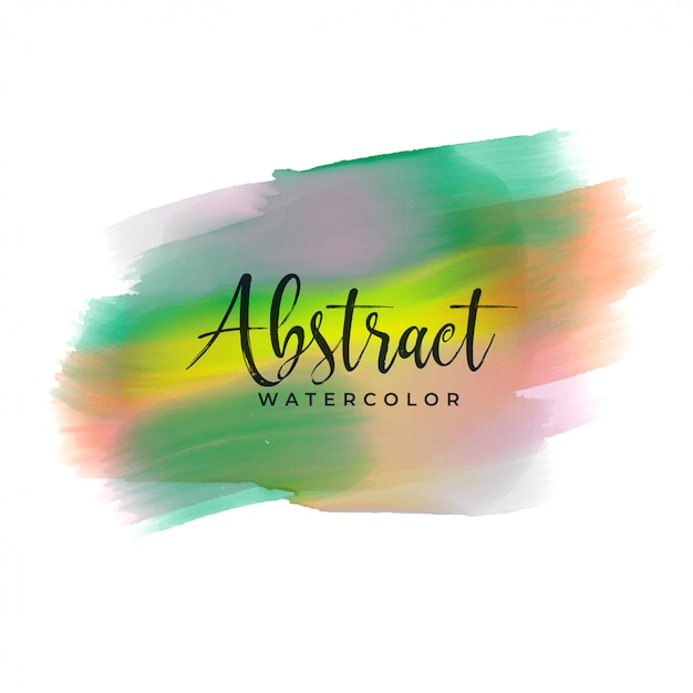Colorful hand painted watercolor texture Free Vector