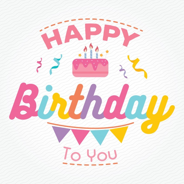 Colorful Happy Birthday Card Background Vector Premium Download