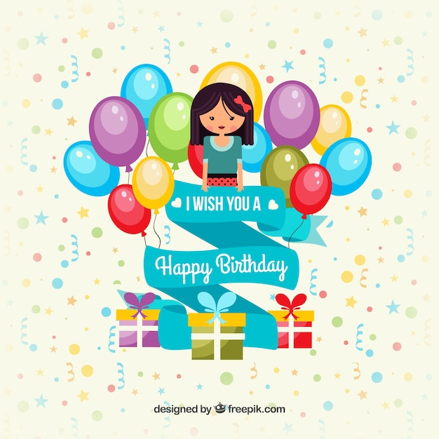 Colorful happy birthday card Vector – Happy Birthday Card Template Free Download